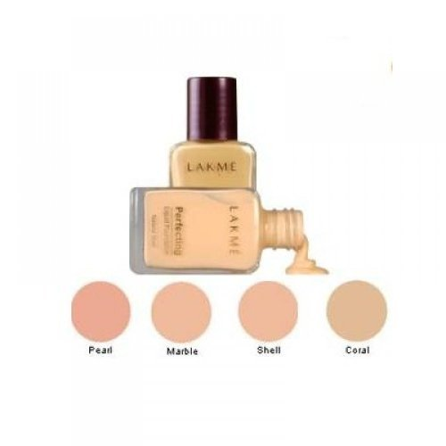 Lakme Perfecting Liquid Foundation - Shell, 27ml (Pack of 2)