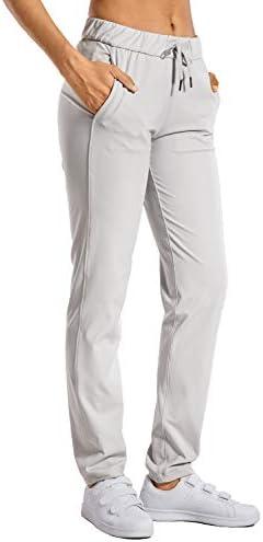 CRZ YOGA レディース ロングパンツ ストレッチ ポケット付き ゆったり スポーツパンツ