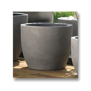 Othello Round Plant Pot 52cm Diameter Grey Amazon Co Uk Kitchen