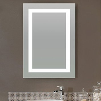 LED Bordered Illuminated Mirror - Large by Lighted Image