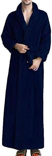 パジャマ CHJMJP パジャマメンズ秋と冬のバスローブウエストコーラルフリースロング太いバスローブフランネルローブ (Color : 05, Size : M)