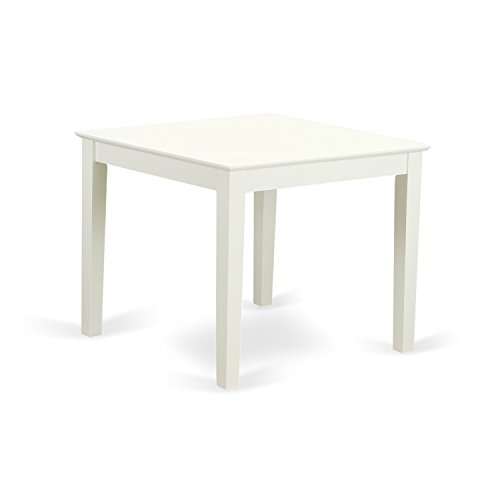 East West Furniture OXT-LWH-T Oxford Square Dining Table of Linen White (Table Bench Kitchen Square With)