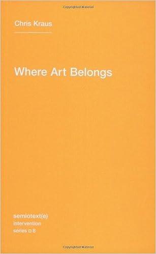 where art belongs semiotexte intervention series