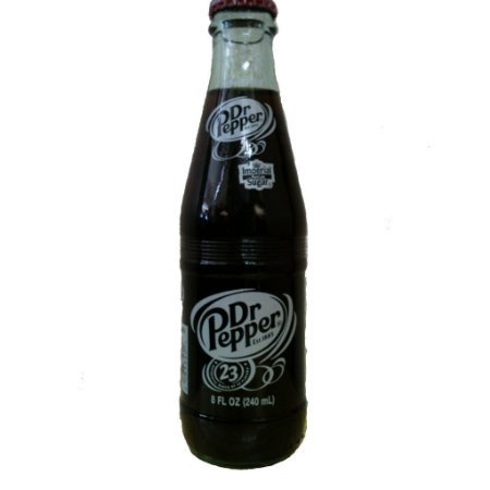 Original Dr Pepper Made with Imperial Cane Sugar 1 - 6 Pack (6 - 8 Oz. Glass Bottles) (Not Dublin)