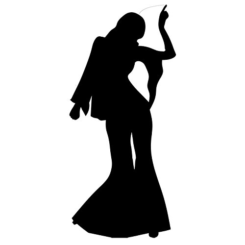 SC108 Disco Dancer Female - Silhouette Cardboard Cutout Standup (Disco Silhouettes)