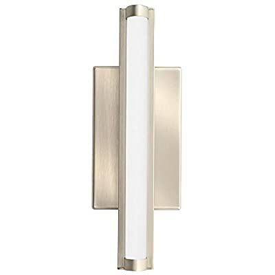 Lithonia Lighting Contemporary Arrow 1 Foot Brushed Nickel 3K LED Decorative Wall Light, Sconce