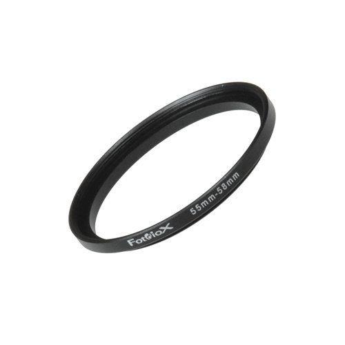 anodizado negro metal 55/mm/ 55/mm Lente/ /-de rosca en rosca de filtro de 58/mm Fotodiox metal Step Up anillo adaptador de filtro /58/mm