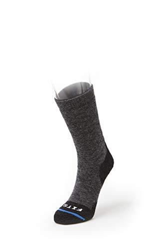 FITS Medium Hiker - Crew: Essential Hiking Socks, Coal, XL