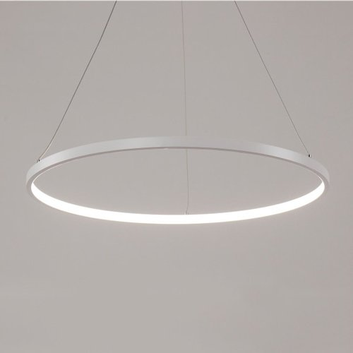 (Mozeny Simple Creative Luxury Modern Acrylic LED Pendant Lamp With Round 1 2 3 Rings Adjustable Hanging Light Tania Trio Collection Contemporary Restauran Ceiling Pendant Lamp Living Room Restauran Wh )