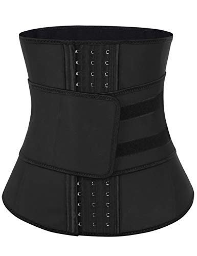 FeelinGirl Womens Latex Waist Trainer Corset for Weight Loss Body Shaper XXL