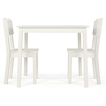 Charmant Humble Crew CL374 Wood Table And 2 Chairs Set, White