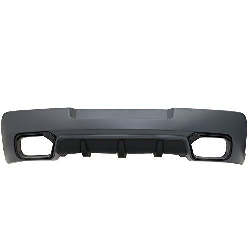 Rear Bumper Cover Fits 2014-2015 Chevy Camaro | OE Style Black PP Z28 Spring Edition Rear Lip Spoiler Diffuser Cover Guard by IKON ()