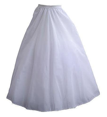 Waist adjustable Petticoat slip underskirt crinoline dress satin for adult wedding dress (White Baptism Dress For Adults)