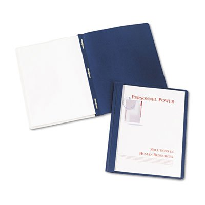 Clear Front Report Cover, Coated paper, 3-Prong, DBE ()