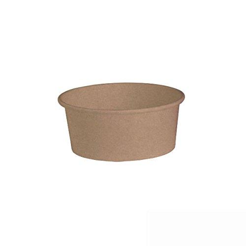 PackNWood 210PC751K Round Kraft Bucket - 5.7 x 5 x 2.4'' - 360 per case by PacknWood
