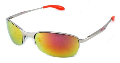 X-Loop Sport Matrix Style Sunglasses Silver Orange - Style Sunglasses Matrix