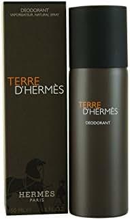 Terre D' Hermes By Hermes For Men. Deodorant Natural Spray 5.0 Oz / 150 Ml