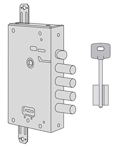 Cerradura Cisa de sobreponer con doble Mapa para puertas blindadas Art. 5751525 entrada 64 int