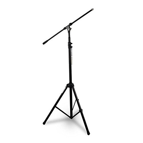 Pyle Heavy Duty Microphone Stand - Height Adjustable from 51.2'' to 78.75'' Inch High w/ Extendable Telescoping Boom Arm 29.5'' and Stable Tripod Base - Clutch in T-Bar Adjustment Point PMKS56 (Pyle Pro Tripod)