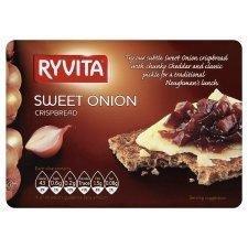 Ryvita Crisp Bread Sweet Onion 200g - Pack of 6