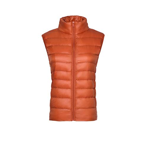 Sleeveless Outdoor Puffer Raylans Vest Vest Orange Women's Lightweight Packable Down pEwxnvqZxO