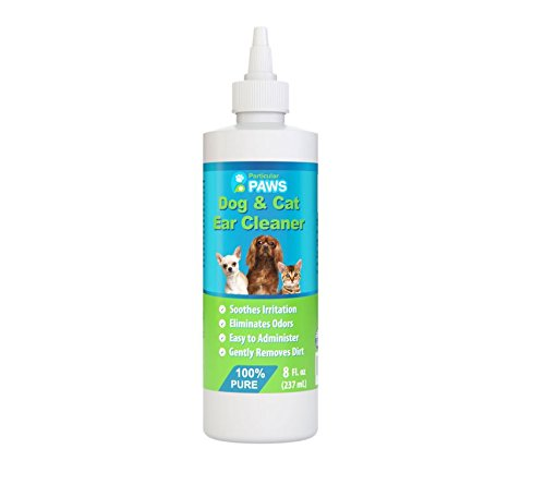 Particular Paws Ear Cleaner for Dogs and Cats with Aloe Vera, Tea Tree Oil & Vitamin E