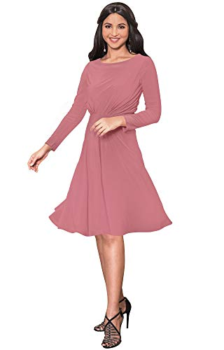 KOH KOH Plus Size Womens Long Sleeve Dressy A-line for sale  Delivered anywhere in USA