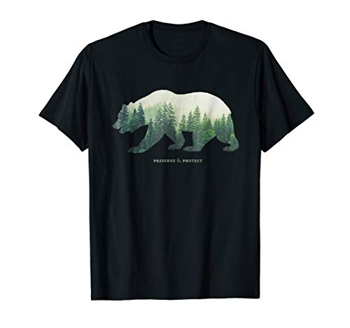 Preserve & Protect T-Shirt Vintage National Park Bear Shirt