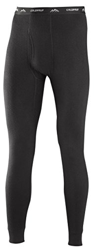 ColdPruf Men's Platinum Dual Layer Bottom, Black, Medium