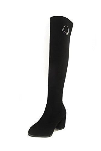 BalaMasa Abl09901, Sandales Compensées Femme - Noir - Noir,