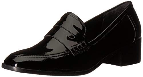 (STEVEN by Steve Madden Women's IONA Loafer Black Patent 8.5 M)