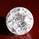 Crystal Ball | Feng Shui Fountains Crystal Ball | Water Fountain Crystal Glass Ball | Fountains Accessories | Natural Polished Crystal Stone Ball | Fountain Crystal Ball - Sphere Shape - 16 CM Circumference - 1 Piece