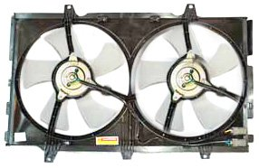 Maxima Radiator Cooling Fan Assembly (TYC 620110 Nissan Maxima Replacement Radiator/Condenser Cooling Fan Assembly)