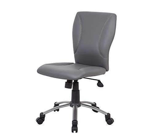 Wood & Style Office Home Furniture Premium Tiffany CaressoftPlus Chair, Grey ()
