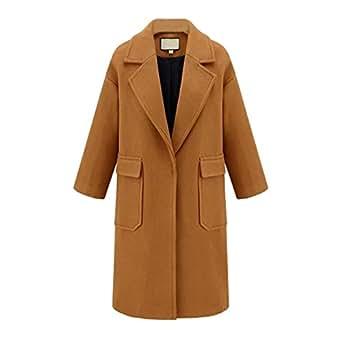 Amazon.com: Women's Coat Casual Lapel Fleece Fuzzy Faux