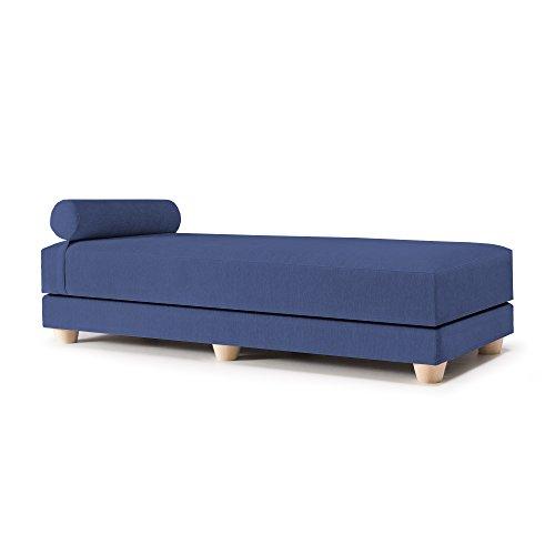 Jaxx Alon Daybed/Fold-Out Sleeper, Queen-Size Mattress - Premium Chenille, Navy ()