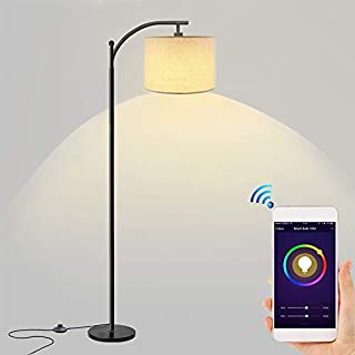 Floor Lamp,LED Smart Light,Dimmable Standing Industrial Arc Lamp,Floor Lamps for Living Room,Office,for Bedrooms