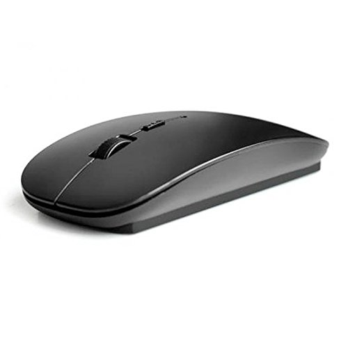 Cywulin 2.4GHz USB Wireless Mice Ultra Slim Ergonomic Professional Optical Gaming USB Receiver Gaming Adjustable Mouse for PCs Laptops Computers Desktops Macs (Black) 50%OFF