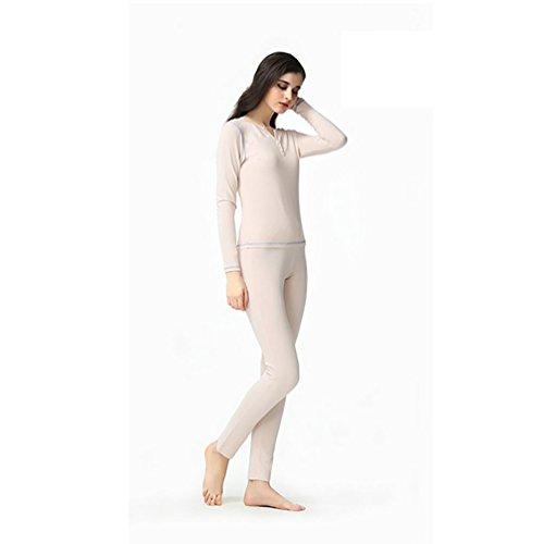 CHUNHUA La Sra modal de punto de chándal de manga larga de las yardas grandes pijamas , ash powder , xl (165/88a) ash powder