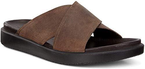 ECCO Men's Flowt LX Slide Flat Sandal, Cocoa Brown, 40 M EU