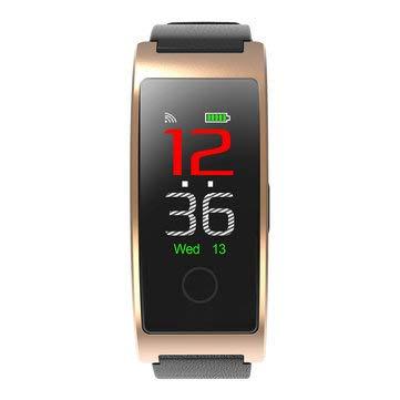 CK11C Color Screen Pedometer Heart Rate Blood Pressure IP67 Waterproof Smart Bracelet - Sport Smart Watches - (Gold)