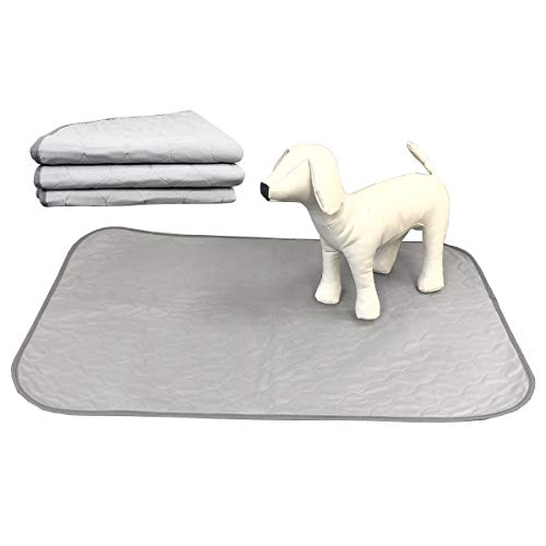 Pet Magasin Reusable Pet Training Pads Washable and Waterproof, 3-Pack, Grey