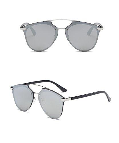 LYM moda sol de de amp; mujer protecciónn UV Gafas de personalidad protección de de sol de 6 Color de Gafas 100 3 amp;Gafas r8rqXwn7P
