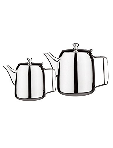 iecool European Style Stainless Steel Loose Tea Teapot for Hotel Restaurant Silver 27oz by iecool (Image #2)