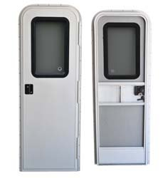 AP Products SAM-1000-12 26 Inch x 72 Inch 015-217709 RV Radius Entrance Door-26'' x 72'', Polar White
