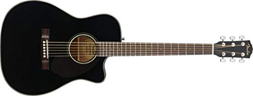 Fender CC-60SCE Concert Acoustic Guitar – Black