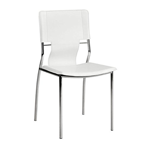Trafico Set - Zuo Trafico Dining Chair (Set of 4), White