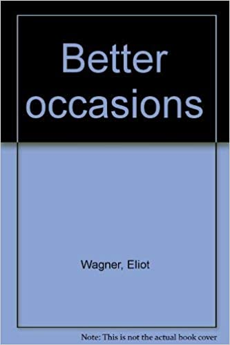 Amazon Fr Better Occasions Eliot Wagner Livres