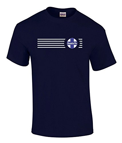 AT&SF Santa Fe Blue Cross Logo Embroidered Logo Tee Charcoal Adult XL [tee16] ()