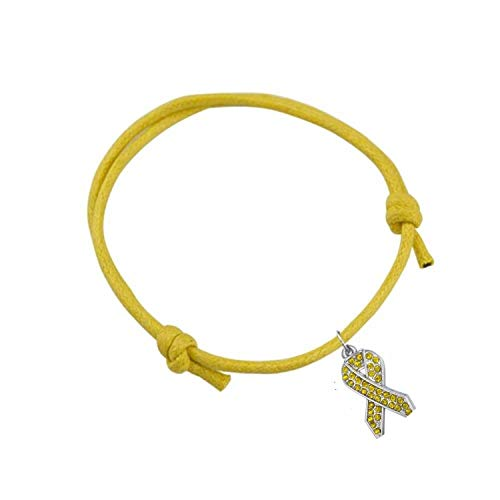 Tea language Simple Style Pink/Blue/Red Ribbon Charm Adjustable Wax Cord Bracelet Survive Jewelry Gift 1pcs ()